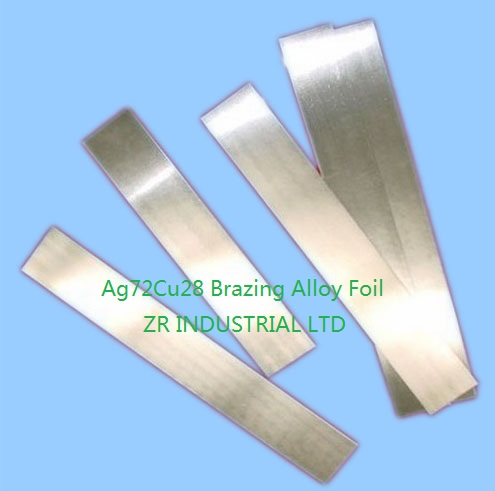 Silver/Copper Brazing Alloy Foil