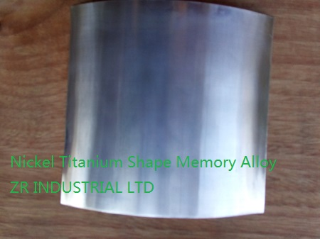 Nickel Titanium Shape Memory Alloy Foil