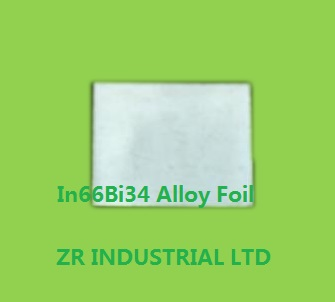 Indium Bismuth Alloy Foil
